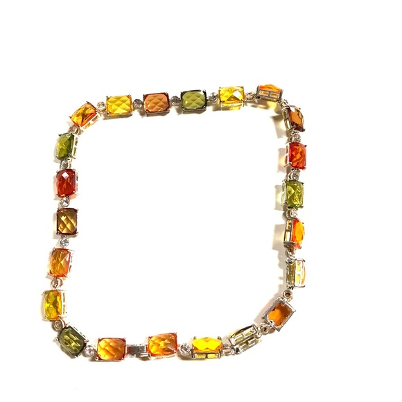 unknown Jewelry - Trendy gemstone necklace, multicolor